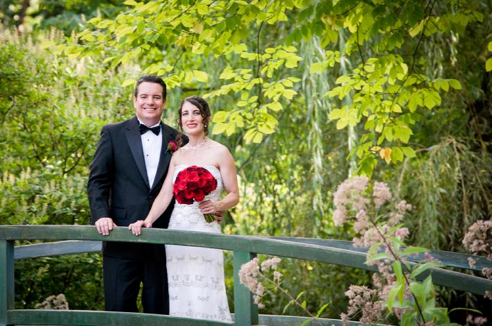 Wedding photography , Couple on the bridge, Grounds for sculpture